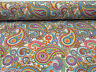 PINK CREAM PAISLEY Upholstery Curtain Cotton Fabric Material - 280cm EXTRA WIDE