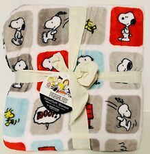 "BERKSHIRE Peanuts Snoopy & Woodstock VelvetSoft Throw Blanket (TWIN - 60""X90"")"