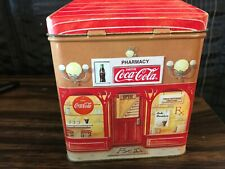 VINTAGE Coca Cola Bank Tin/ PHARMACY THEMED