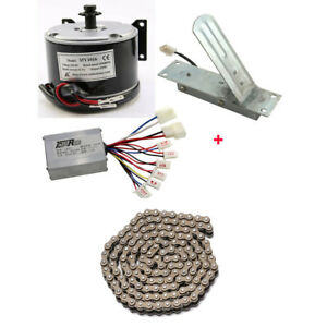 24V 250W Electric Motor Speed Controller Foot Pedal Kit fr E Scooter Bicycle ATV