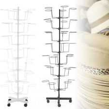 7 Tiers Caps Holders Hat Rotating Display Rack Stand Adjustable Metal Stand