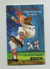 Vintage (1969) Pocket-Size Fold-Out Schedule St Louis Cardinals Baseball yz4338