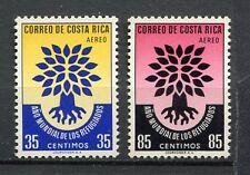 35418) COSTA RICA 1960 MNH** WRY Refugee 2v