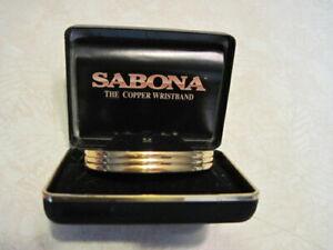 VINTAGE 1997 SABONA OF LONDON COPPER CUFF BRACELET SIZE MEDIUM IN BOX