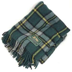 Vintage Bronte Tweeds Blanket Throw All Wool Tartan Pattern England made in UK