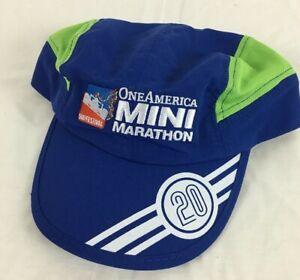 One American Indianapolis Mini Marathon 2020 Blue/Green Running Hat