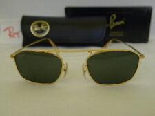 New Vintage B&L Ray Ban Vintage Square Gold W2001 Sunglasses USA NOS