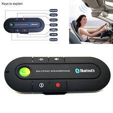 Universal Bluetooth Magnetic Slim Handsfree Car Kits Visor Clip Speaker Phone