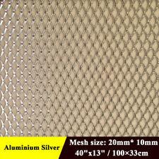"Silver Universal Aluminum Rhombus Grille Mesh For Car Auto 40"" x 13"""