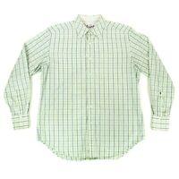 Robert Graham Mens Dress Shirt Sz Large Button Up Yellow Green Pink Flip Cuffs