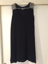 Lili London Ladies Black Bejewelled Dress Size 8 In Good Condition