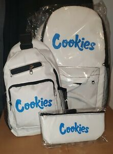 NEW COOKIES 3 PIECE BACKPACK SET OVER THE SHOULDER INCLUDED + HAND BAG