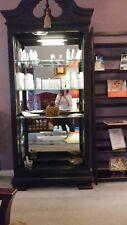 (2) curio cabinets, black in color, 4 glass shelves, 250$ OBO