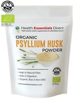 Organic Psyllium Husk Powder (IBS - Natural Soluble Fibre) Choose Size: