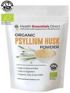 Organic Psyllium Husk Powder (IBS - Natural Soluble Fibre) Choose Size: