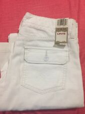 NWT Levis White Bell bottoms flare 0M 25 Waist wide pants