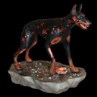 "HCG Zombie Dog Statue Resident Evil Doberman Guard Dog 8"" SEALED"