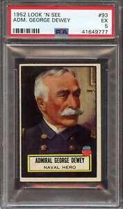 1952 TOPPS LOOK 'N SEE #93 ADM. GEORGE DEWEY PSA 5 *DS11713