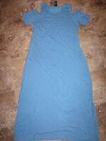 New Womens Design History Maxi Dress Regatta Blue Cold Shoulder S M L XL 2XL