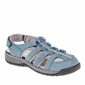 Drew Shoe Womens Element Closed Toe Casual Gladiator Sandals, Blue, Size 8.0 VIY