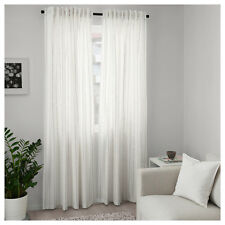 1 Pair of 100% Cotton Ikea Bedroom Curtains Window Panel Sheer Blinds 250x145cm