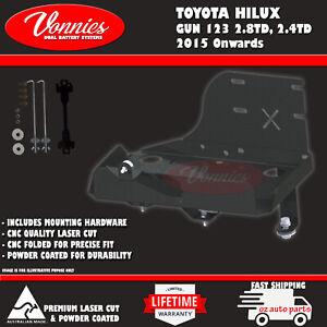 Dual Battery Tray, Toyota Hilux GUN 123 126 136, 2.4 2.8TD 2015 - Onwards