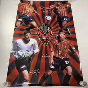NEW OPENED 1998 Metro Stars (Red Bull New York) MLS Soccer Team Poster Vintage