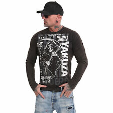 Neues Yakuza Herren Life Is Short Longsleeve T-Shirt - Schwarz