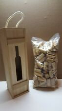 Lot of 100 + Assorted Mix Brands/Wine Corks Crafting w/Natural Wine Box Storage