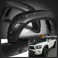 For 2005-2011 Toyota Tacoma 6' Pocket Style Bolt On Rivet Fender Flares Smooth