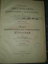 Wörterbuch 1908 Spanisch - Deutsch