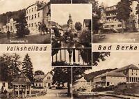 Volksheilbad Bad Berka , DDR , Ansichtskarte, gelaufen