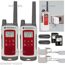 2 Motorola Talkabout T480 Walkie Talkie Set 35 Mile Two Way FM Radio NOAA PTT