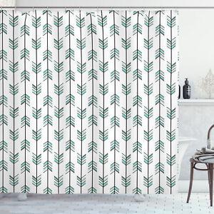 Ambesonne Cloth Shower Curtain Machine Washable Bathroom Decor & Hooks
