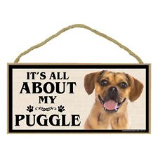 Imagine This Wood Breed Sign, It's All About My Puggle