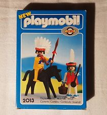 Playmobil-set 2013-Indians with Horse Spear, Cooking equipment, 1978 si, Rare