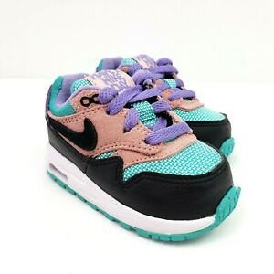 Nike Air Max 1 Baby Girls Size 4 Purple Coral Have A Nike Day Sneaker Shoes