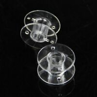 25pcs Plastic Empty Bobbins Case For Brother Janome Singer Sewing Machine H6C F2