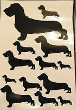Wire dachshund vinyl stickers, decals, for car, window