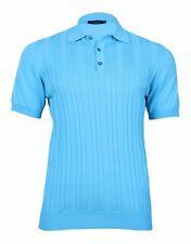 Pal Zileri New Men's Turquoise Cotton Polo Shirt, size XS, M, L, 3XL