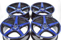 17 blue wheels rims Legend CL TL RSX Camry Civic Accord XB Fusion Optima 5x114.3