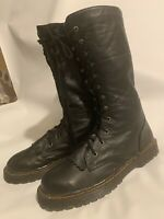 Dr. Martens STYLE Men Leather Tall 12 Eye Lace Up Combat Boots New Size 7.5