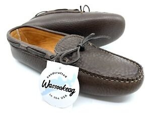 Men's Wassookeag Moccasins Single Sole Lined Buffalo • Size 10 D/E