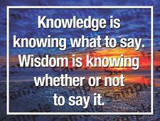 Inspirational / Motivational Refrigerator Magnet: Knowledge is...