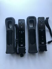 official nintendo wii motion plus controllers Lot Of Two With Covers Tested!