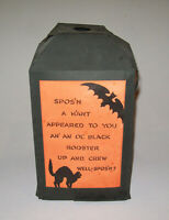 Old Vtg Ca 1920s Folding Paper Halloween Lantern Owls Cats With Spos'n Poems