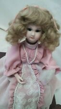 Beautiful French Antique Style Music Box Dressing Table Doll, Automaton Doll