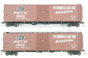 HO - 2 Proto 2000 Pittsburg and Lake Erie (PLE) 50ft Single Door Box Cars Dif #s