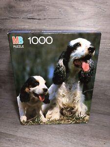 """MB Milton Bradley Puzzle 1000 Pieces """"Cocker Spaniels"""" 20"""" X 26"""""""