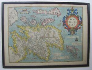 Scotland: antique map by A.Ortelius, 1573-1612